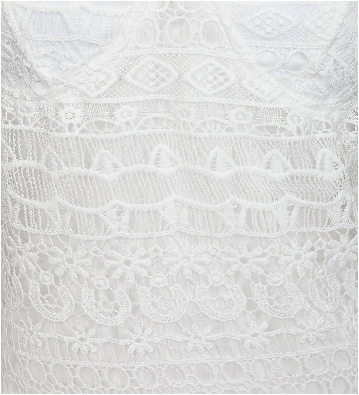 eVogues Women's Floral Lace Bustier Crop Bralette Top Black
