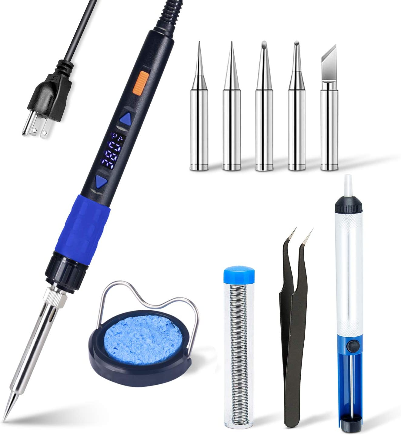 GROOMY Electric Soldering Iron With Plastic Handle Flat Tip For Car Bumper Repair
