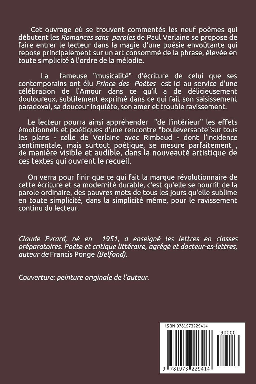 Verlaine Ariettes Oubliées La Poétique De La Phrase Amazon