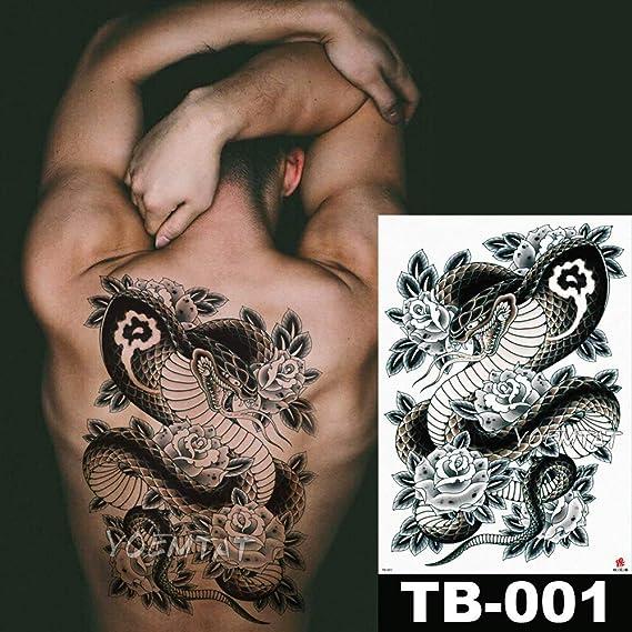 tzxdbh 48 * 35 cm Estilo de la Vieja Escuela Serpiente Oscura ...