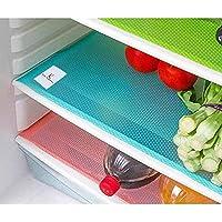 طقم مفارش ثلاجة متعددة الاستخدامات مصنوعة من بلاستيك بي في سي بالوان متعددة، طقم مكون من 6 قطع