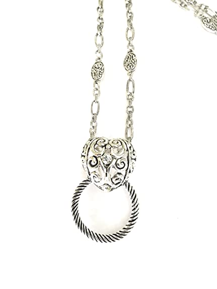 20dbb2a2bc1 Amazon.com  Lanyard Heart Badge ID Glasses Holder  Jewelry