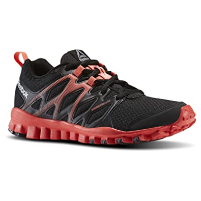 641fc078ead9 Image Unavailable. Image not available for. Color  Reebok Realflex Train  4.0 Black Fire Coral Women s ...