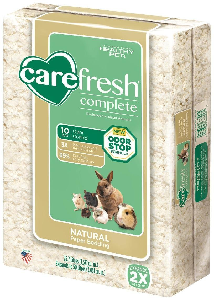 Carefresh Complete Natural Paper Bedding - White - 50 lt by Carefresh