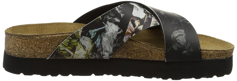 Papillio Daytona Pantoletten Birko-flor Damen Pantoletten Daytona Mehrfarbig (Golden Age schwarz Plateau) 179aa0
