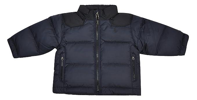 huge discount aadea d988e Polo Ralph Lauren Piumino Bambino Rosso O BL 12 Mesi: Amazon ...