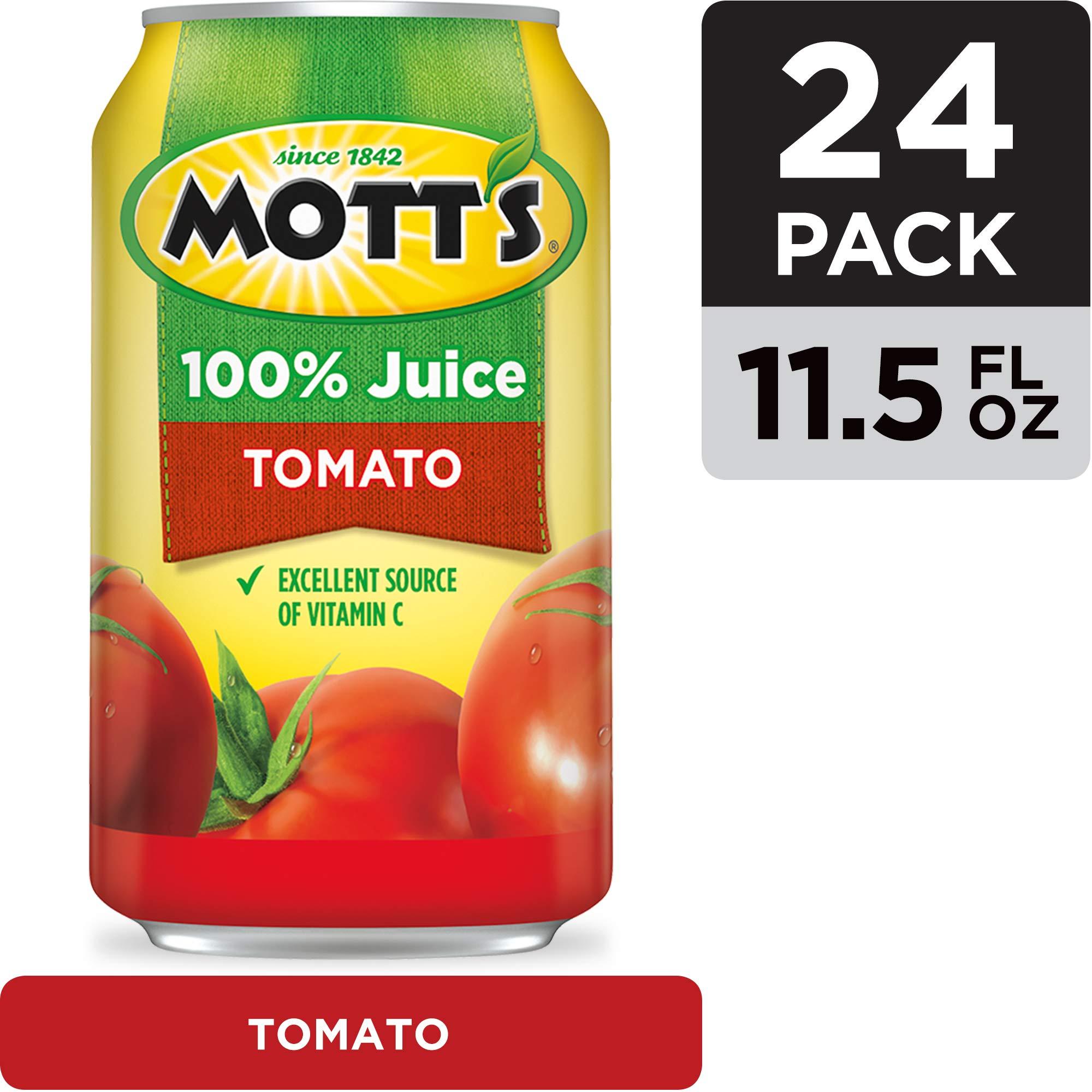 Mott's 100% Tomato Juice, 11.5 Fluid Ounce Can, 24 Count by Mott's