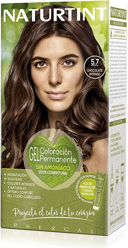 Naturtint | Coloración sin amoniaco | 100% cobertura de canas | Ingredientes vegetales | Color natural y duradero | 5.7 Chocolate Intenso | 170ml