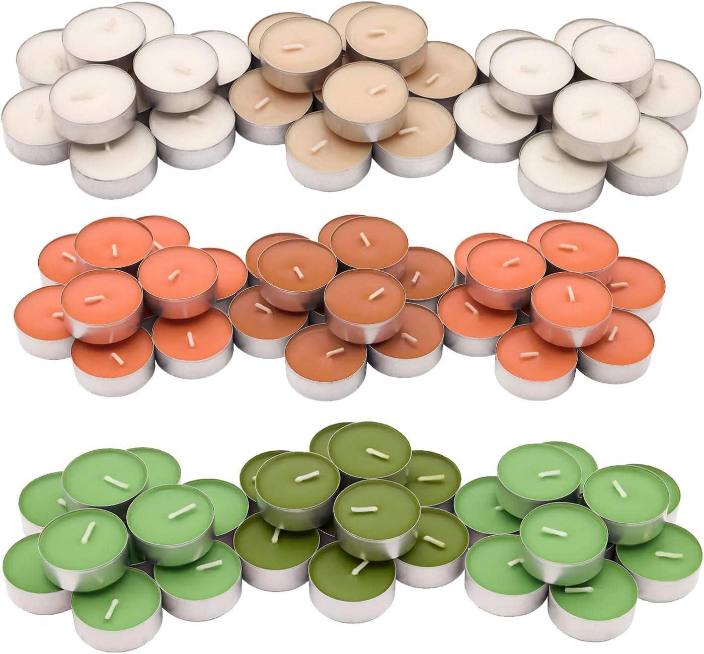 90 Tealights Total /… Vanilla Pleasure 30 Tealights of Each Scent 3-Pack Mixed IKEA Sinnlig Tealights Bundle: Green Apple Pear Orange//Peach Scents