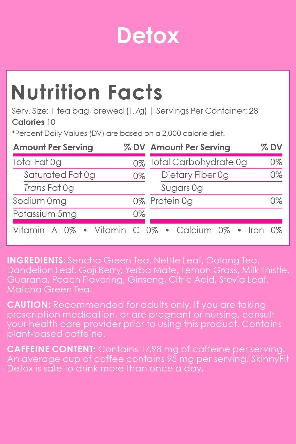 SkinnyFit Detox and ZzzTox 24/7 Bundle 56 Servings: Cleanse with All-Natural, Laxative-Free, Green Tea Leaves, Chamomile and Lavender. Gluten-Free - Slimming Way to Release Toxins and Reduce Bloating by SkinnyFit (Image #5)