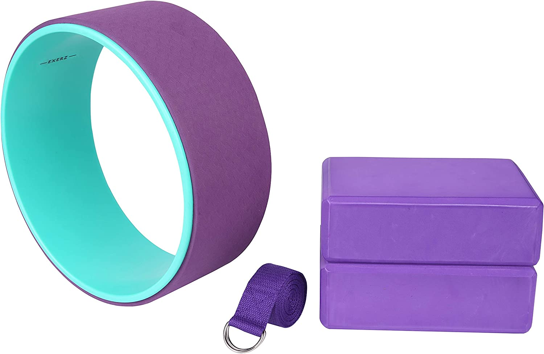 el Equilibrio Exerz EXYW-001 Muscle Tension Release Rueda de Yoga Pilates Roller el Aumento de la flexibilidad y la Mejora de Backbends. para el Estiramiento