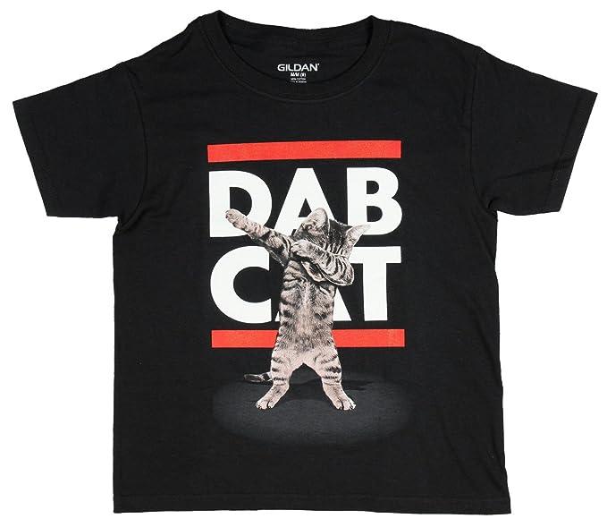 960775237 Amazon.com: Gilden Boys Dab Cat Graphic T-Shirt Black X-Small: Clothing