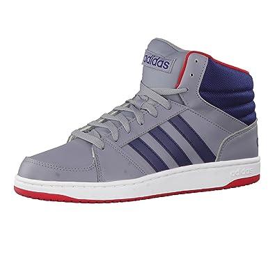 low priced 8a824 12b68 adidas Hoops VS Mid, Chaussures de Sport Homme, Gris Noir Rouge (. Passez la  souris sur ...