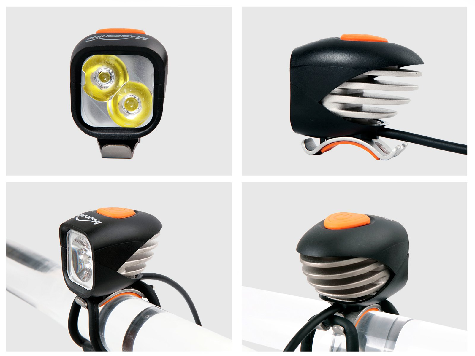 Magicshine MJ 902, 1600 Lumens Bike Light Set, Wireless Remote Bicycle Lights Front And Rear Combo, Rechargeable 2 CREE XM-L2 LED Bike Tail Light, Portable & Convenient Bright Bike Light by Magicshine (Image #5)