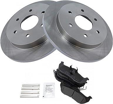 Front OE Brake Calipers and Rotors Ceramic Pads Kit For 2004 2005 ARMADA TITAN