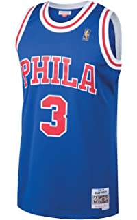 75696b2c0 Allen Iverson Philadelphia 76ers Mitchell and Ness Men s White Throwback  Jesey