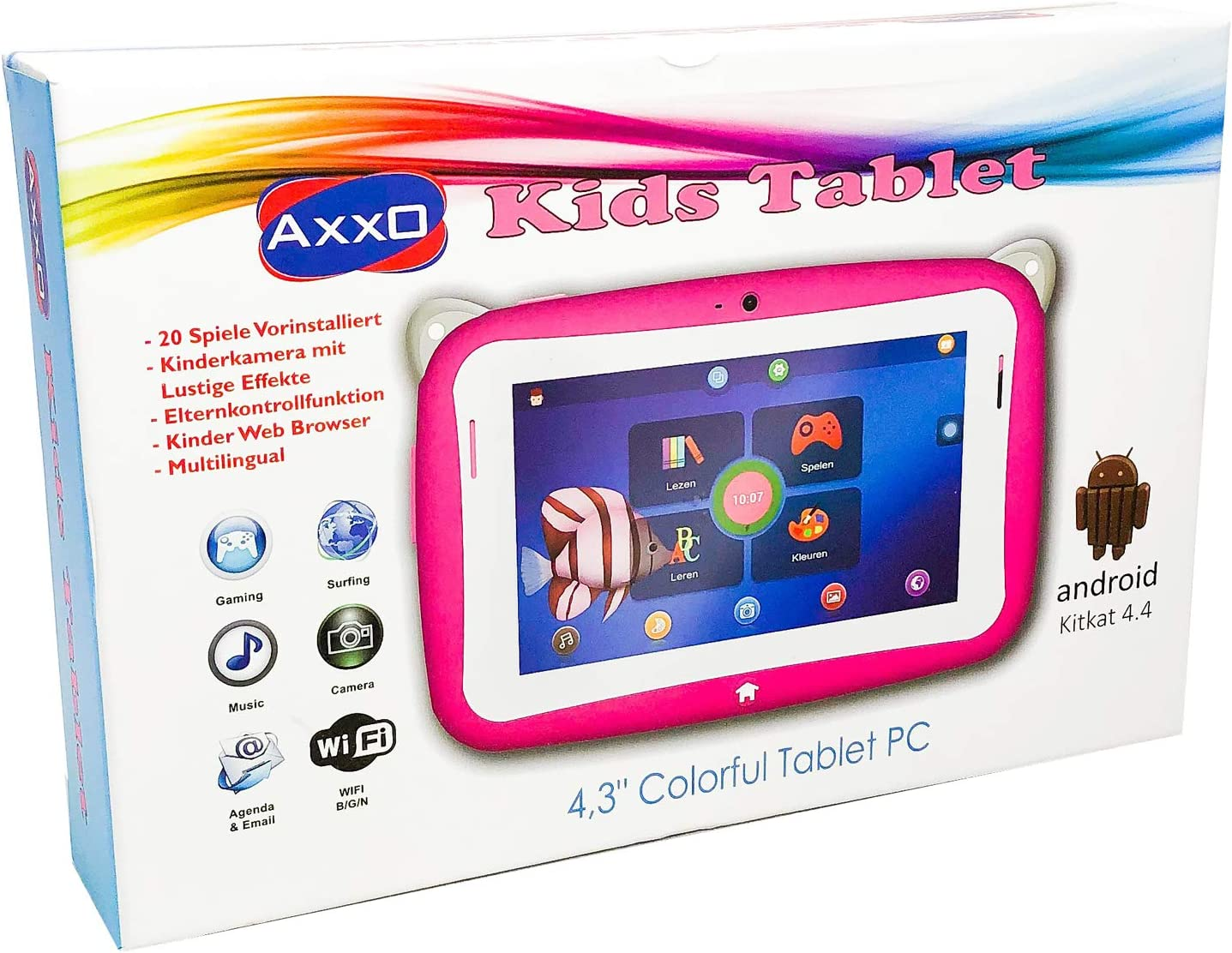 Axxo Children S Learning And Play Tablet With 20 Computers Accessories