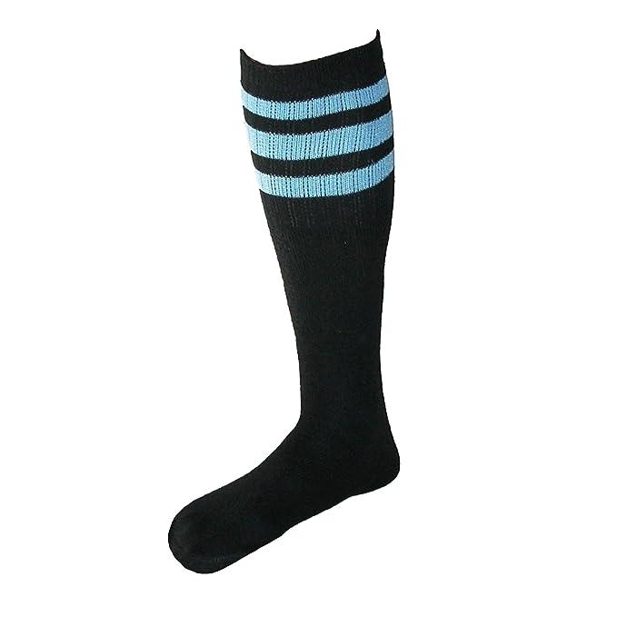 CTM - Calcetines de deporte - Rayas - para hombre negro Black with Blue Talla única: Amazon.es: Ropa y accesorios