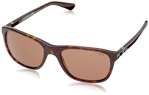 Amazon.com: Polo Ralph Lauren Men\'s PH4085 Square Sunglasses,Havana ...