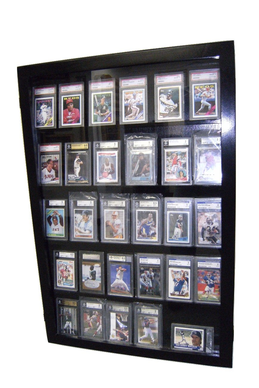 Amazon.com : Baseball Card Display Case for Graded Cards 30 PSA ...