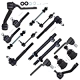 SCITOO 16pcs Suspension Kit 2 Front 2 Rear Sway Bar End Link 2 Upper 2 Lower Ball Joint 1 Pitman 1 Idler Arm 2 Inner 2 Outer Tie Rod End 2 Adjusting Sleeves fit 1998-2002 Mercury Grand Marquis ES3495