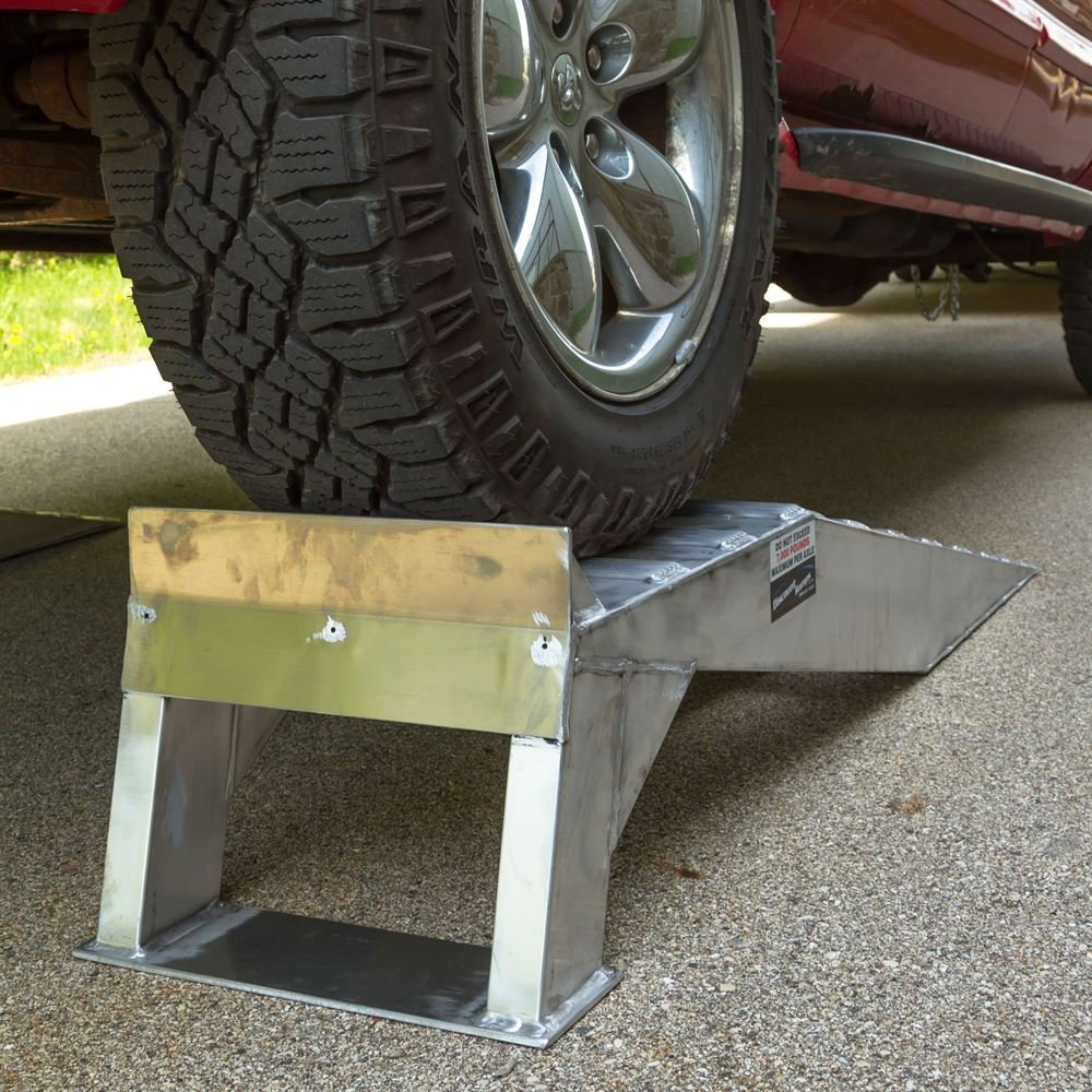 Pair of Aluminum Pickup Truck Wheel Riser Service Ramps by Rage Powersports (Image #3)