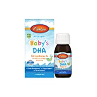 Carlson - Baby's DHA, Liquid DHA Baby Supplement, 1100 mg Omega-3s + 400 IU Vitamin...