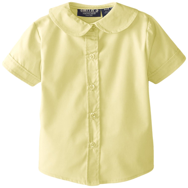 c188f1e48b0949 Amazon.com: Smith's American Little Girls' Peter Pan Collar Poplin Blouse,  Yellow, 2T: Clothing