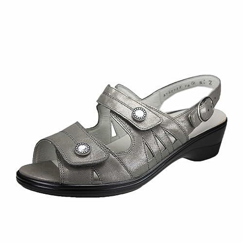 Waldläufer Women's 445007-185-088 Hona Fashion Sandals grey Mid-Grey
