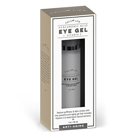 Calily Life Hyaluronic Acid Eye Gel Vitamin E with Dead Sea Minerals, 1 Oz. Deep Penetration Formula – Anti-Wrinkle and Anti-Aging – Minimizes Fine Lines, Puffiness and Dark Circles