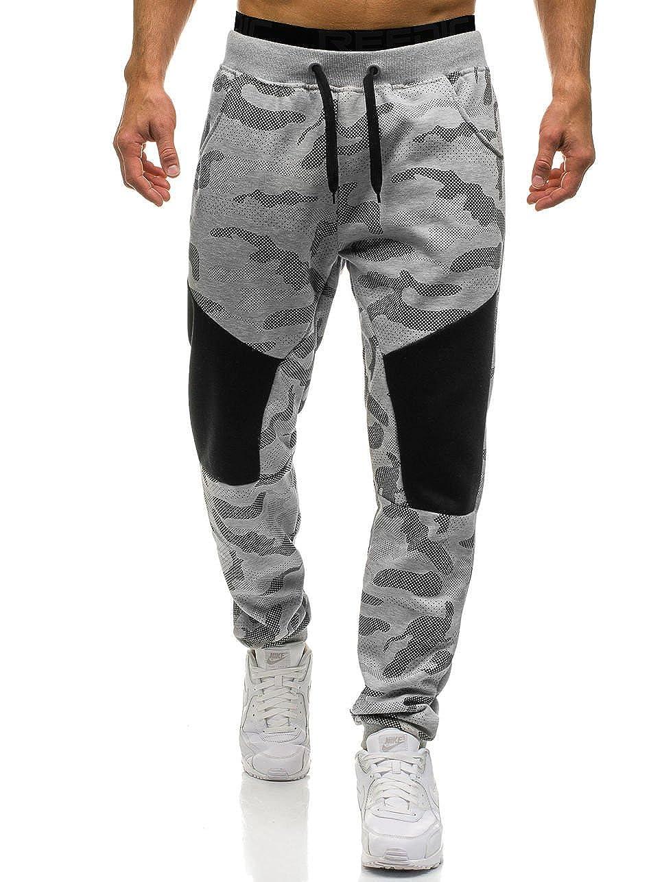 fef9c1b338ace3 Amazon.com: Ouber Men's Slim Fit Camo Jogger Sweatpant Cotton Tapered Gym  Pants: Clothing