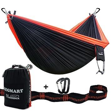 segmart hammock  portable double ultralight camping hiking and backpacking parachute hammocks with tree straps segmart hammock  portable double ultralight camping hiking and      rh   amazon ca