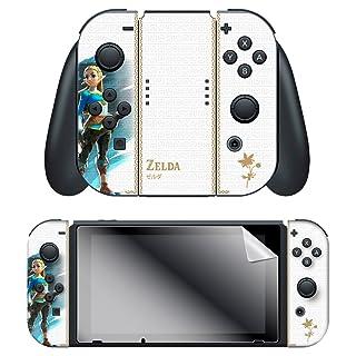 "Controller Gear Nintendo Switch Skin & Screen Protector Set, Officially Licensed By Nintendo - The Legend of Zelda Botw ""Princess Zelda"" Joy-Con Only - Nintendo Switch"