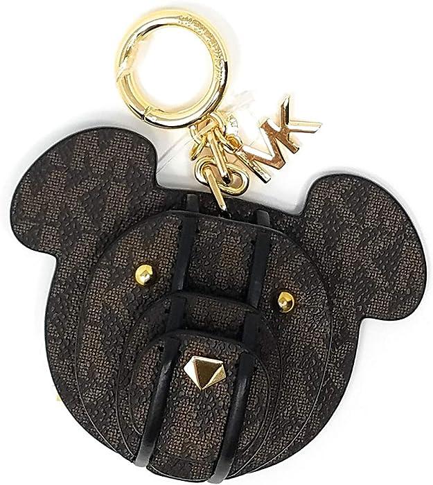 Michael Kors 3D Leather Bear Charm Keychain