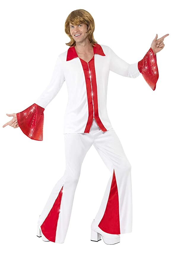 70s Costumes: Disco Costumes, Hippie Outfits Smiffys Super Trooper Male Costume £23.71 AT vintagedancer.com