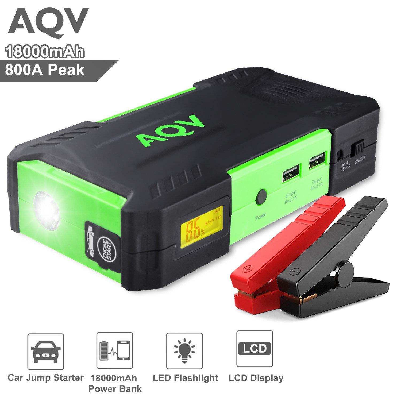 Arrancador de Coche AQV Jump Starter Batería A Peak mAh Cargador de