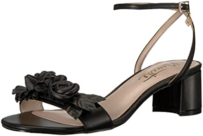 Nanette Lepore Women's Donna Heeled Sandal, Black, ...