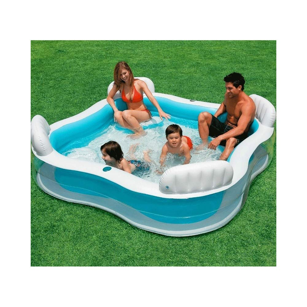Trade Shop - Piscina Hinchable con 4 Asientos con 2 portavasos ...