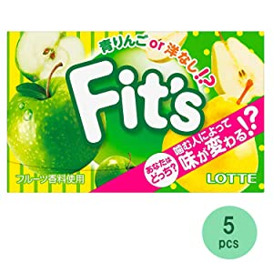 Fit's LINK Green Apple Or Pear 0.9oz 6pcs Japanese Chewing Gum Lotte Ninjapo