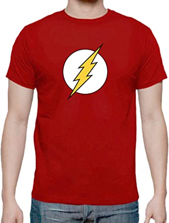 The Fan Tee Camiseta de NIÑOS Flash Superheroe: Amazon.es: Ropa y ...