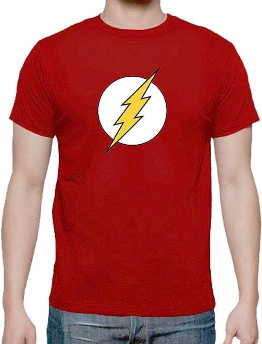The Fan Tee Camiseta de NIÑOS Flash Superheroe: Amazon.es: Ropa y ...
