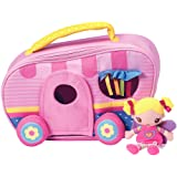 "Adora TravelTime Fairy Play Set Padded RV Trailer Camper with Plush 5.5"" Fairy Doll, Easy to carry for Kids Ages 3 & up"