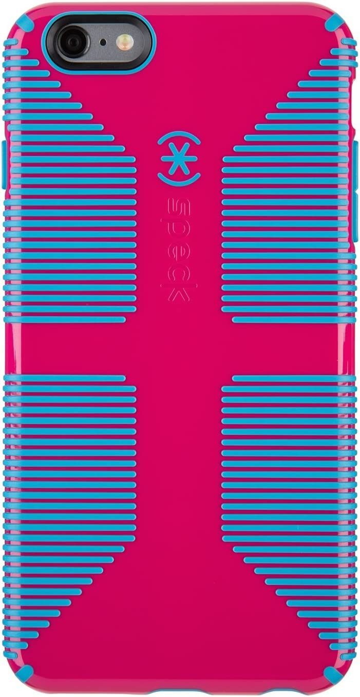 Speck Products CandyShell Grip Case Plus FACEPLATE for iPhone 6/6S Plus - Lipstick Pink/Jay Blue
