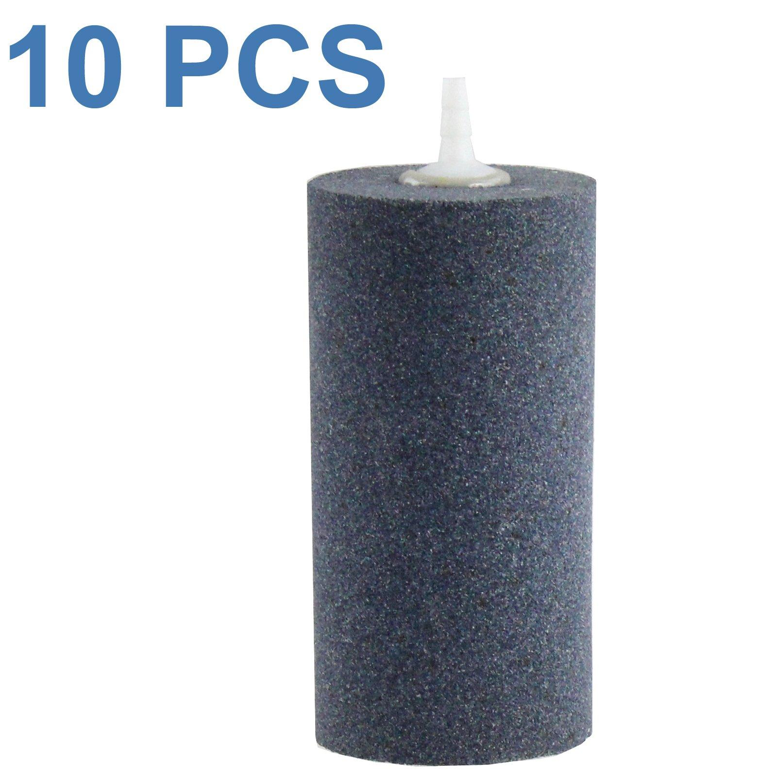 Aquaneat 10pcs 4''x2'' Air Stone for Aquarium Air Pump Fish Tank Aerator Diffuser Hydroponics Cylinder (10pcs, 4'') by Aquaneat