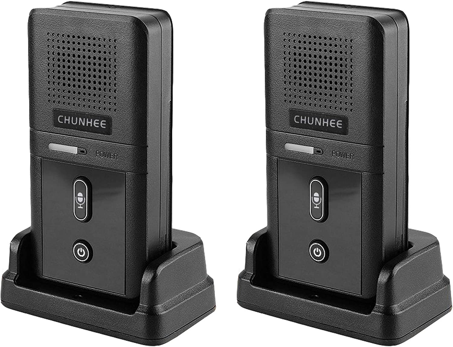Chunhee Wireless Home Intercom System for Elderly, Two-Way Communication Caregiver Pager Nurse Calling System for Patient/Senior/Disabled/Nursery/Pregnant