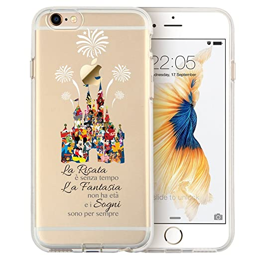 17 opinioni per Cartoon Movie Character Fan Art CLEAR Hybrid Cover Case for Disney Castle-iPhone