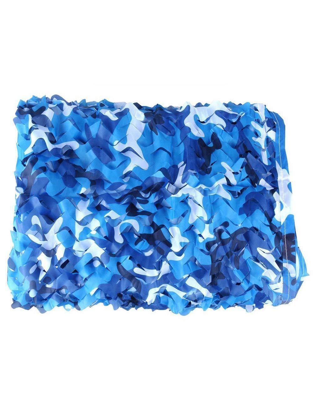 WNpb 2 X 3M Camouflage Filet Camouflage Filet Chasse Bleu Océan Camping Tente de Voiture Militaire pour Voiture Militaire Parasol (Couleur  Camouflage Océan) (Taille   6m×8m)  -