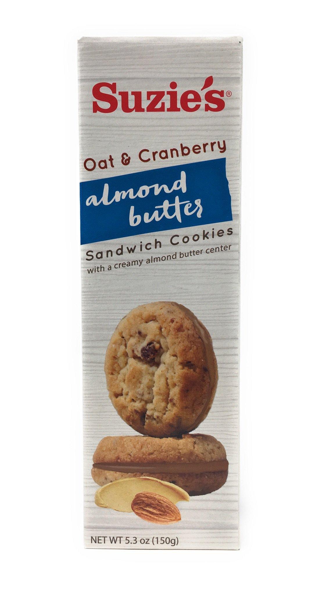 Suzie's Oat & Cranberry Almond Butter Sandwich Cookie, 5.3 oz. (Pack of 6)