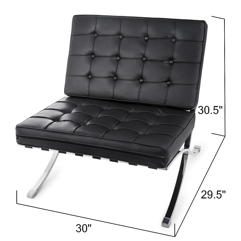 Amazon.com: Happybuy - Juego de sillón y otomana de piel ...