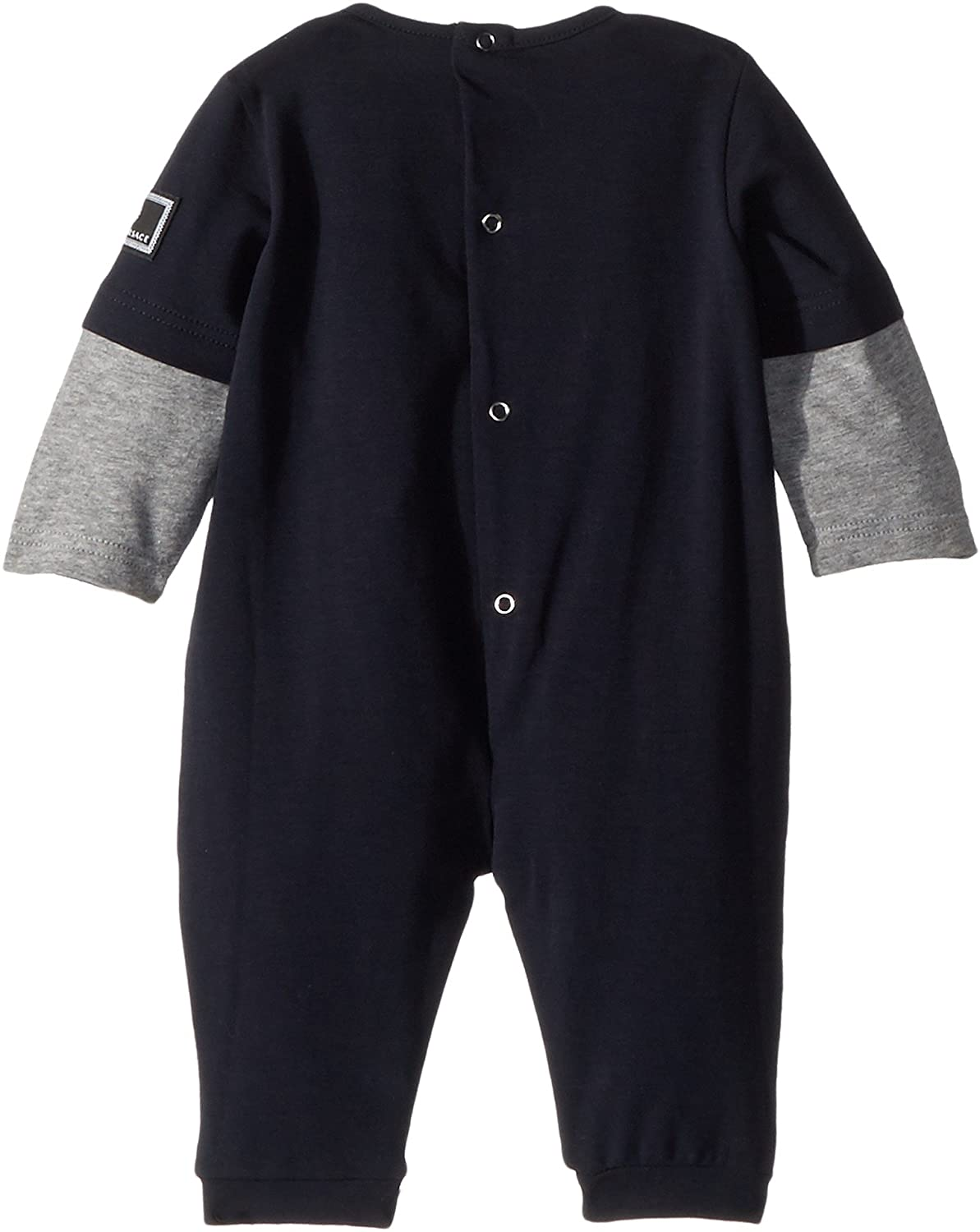 667a2851 Amazon.com: Versace Kids Baby Boy's Romper w/Car Graphic (Infant) Blue/Grey  1 Month: Clothing